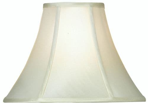 "Cream 14"" Empire Faux Silk Lamp Shade - Oaks Lighting"
