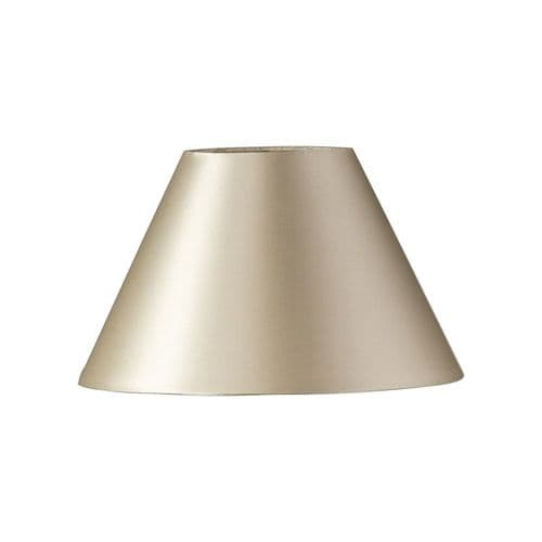 "Cream 14"" Faux Silk Coolie Lamp Shade - Oaks Lighting"