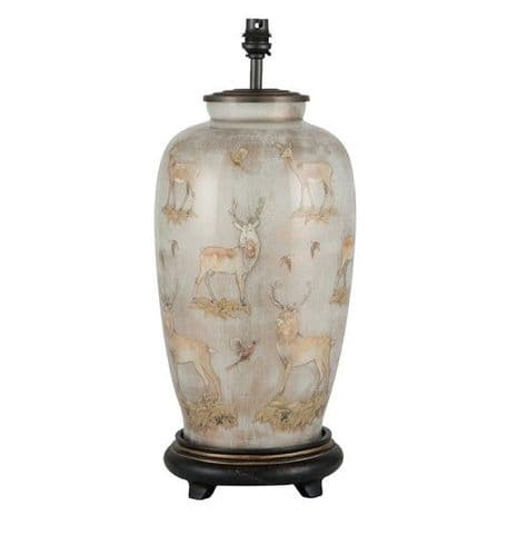 Deer Tall Urn Table Lamp - Jenny Worrall