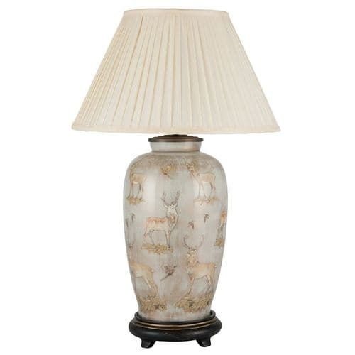 Deer Tall Urn Table Lamp with Shade - Jenny Worrall