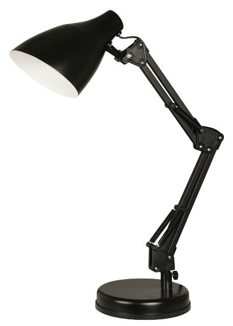 Oaks Draven Black Desk Lamp | 3920 TL BK | Oaks Lighting | Luxury Lighting.