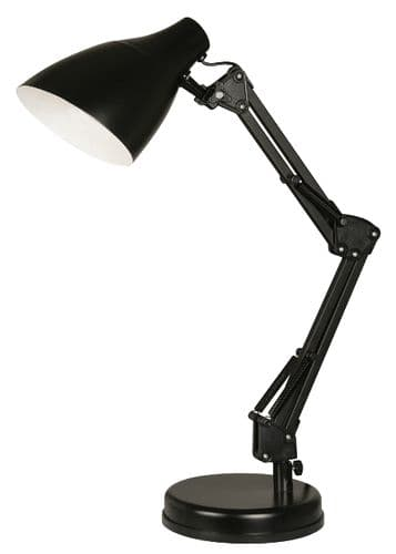Draven Black Desk Lamp - Oaks Lighting