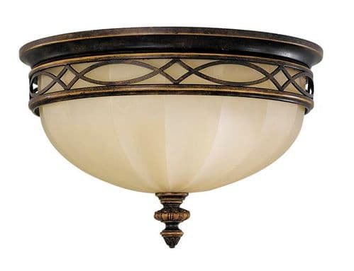 Drawing Room Domed Flush Ceiling Light - Feiss Lighting