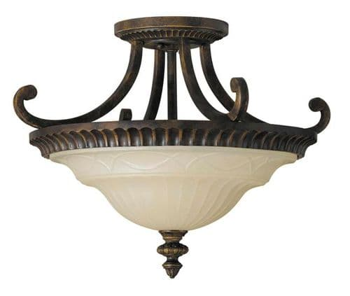 Drawing Room Semi-Flush Ceiling Light - Feiss Lighting