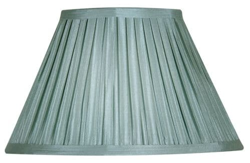 "Duck Egg 14"" Box Pleat Faux Silk Lamp Shade - Oaks Lighting"