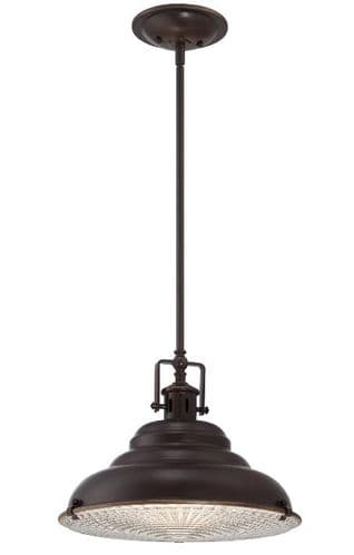 Eastvale Medium Single Light Pendant - Quoizel Lighting