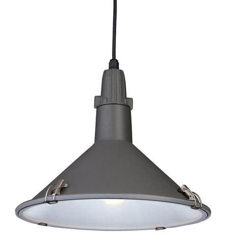 Eden Grey Single Light Pendant - Firstlight Lighting