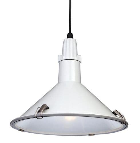 Eden White Single Light Pendant - Firstlight Lighting