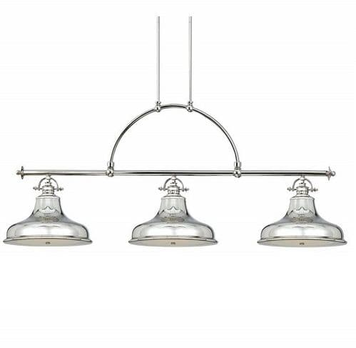 Emery Imperial Silver Linear Island Ceiling Light Pendant - Quoizel Lighting
