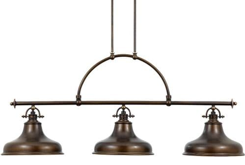 Emery Palladian Bronze Linear Island Ceiling Light Pendant  - Quoizel Lighting