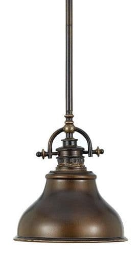 Emery Small Palladian Bronze Single Light Pendant - Quoizel Lighting