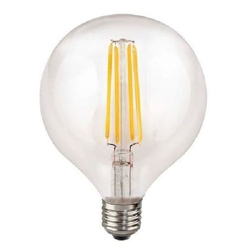 ES G125 Globe Clear LED Light Bulb 7 Watt