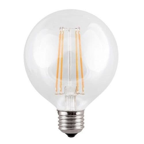 ES G95 Globe Clear LED Light Bulb 7 Watt