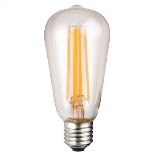 ES ST64 Squirrel Cage Clear LED Light Bulb 7 Watt
