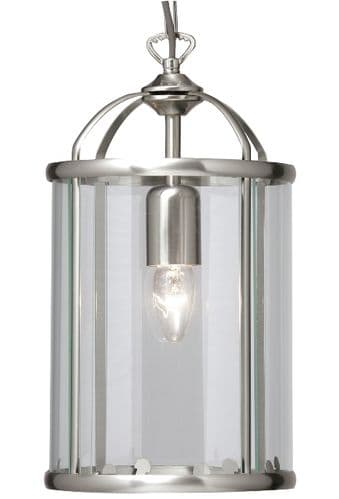 Fern Antique Chrome Single Light Lantern - Oaks Lighting