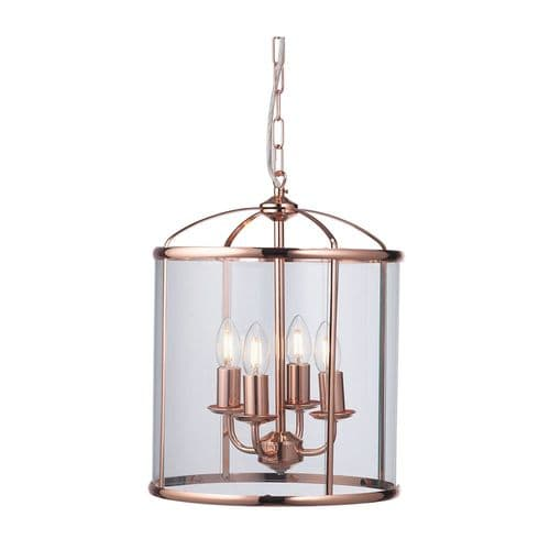 Fern Copper 4 Light Lantern - Oaks Lighting