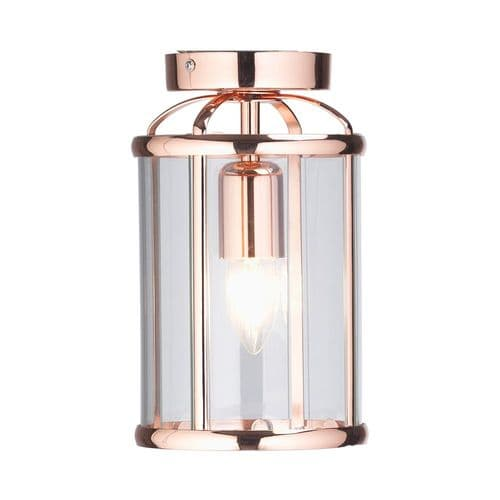 Fern Copper Flush Lantern - Oaks Lighting