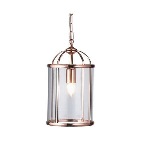 Fern Copper Single Light Lantern - Oaks Lighting