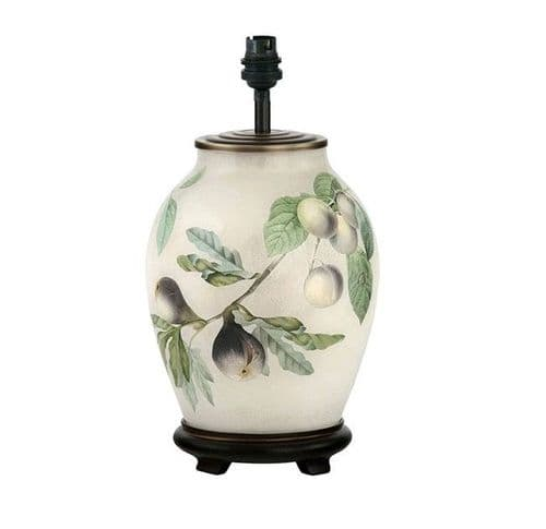 Fig and Plum Medium Oval Table Lamp - Jenny Worrall