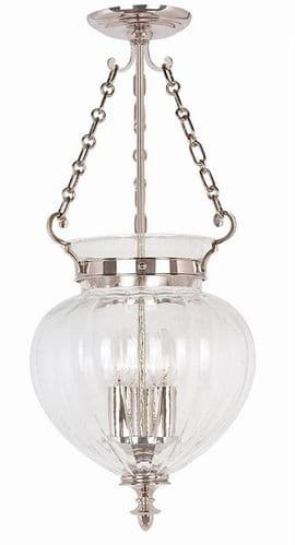 Finsbury Park Polished Nickel Medium Interior Lantern - Elstead Lighting