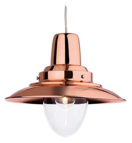 Fisherman Copper Single Light Pendant - Firstlight Lighting