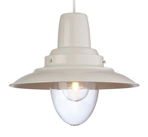 Fisherman Cream Single Light Pendant - Firstlight Lighting