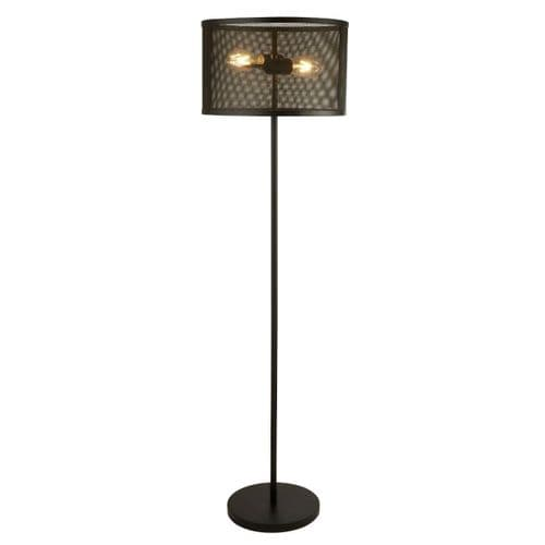 Fishnet Black Floor Lamp - Searchlight Lighting