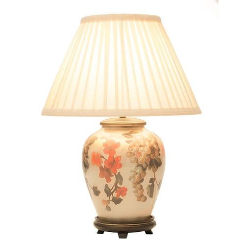 Fruit & Flower Small Table Lamp with Shade - Jenny Worrall