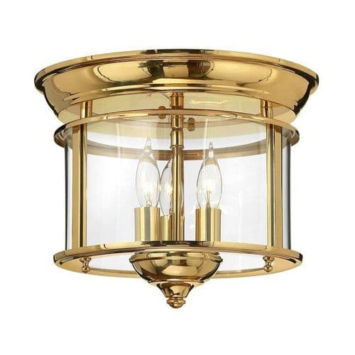 Gentry Brass Flush Interior Lantern - Hinkley Lighting