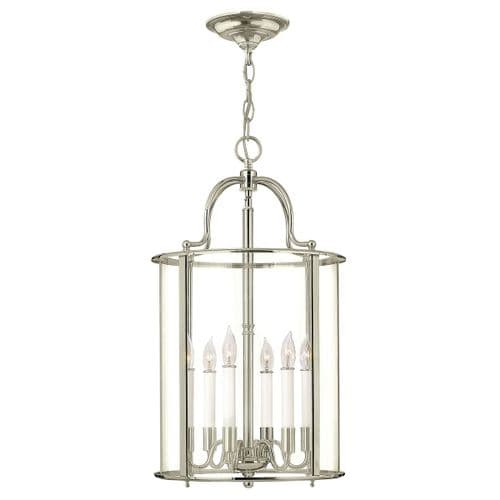 Gentry Nickel Large Interior Lantern - Hinkley Lighting