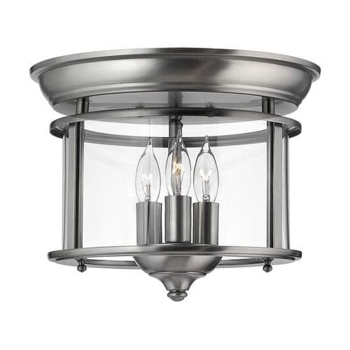 Gentry Pewter Flush Interior Lantern - Hinkley Lighting