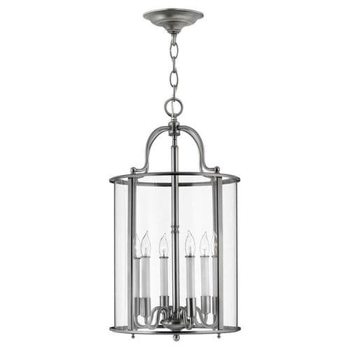 Gentry Pewter Large Interior Lantern - Hinkley Lighting