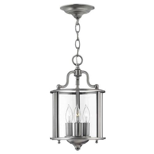 Gentry Pewter Small Interior Lantern - Hinkley Lighting