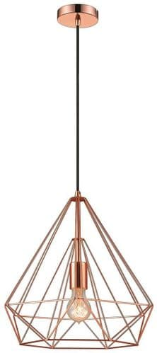 Geo Copper Small Single Light Pendant - Luxury Lighting