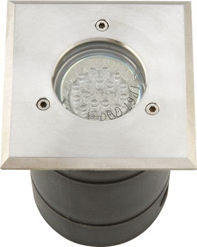 GU10 LED Square Walk-Over Light Stainless Steel