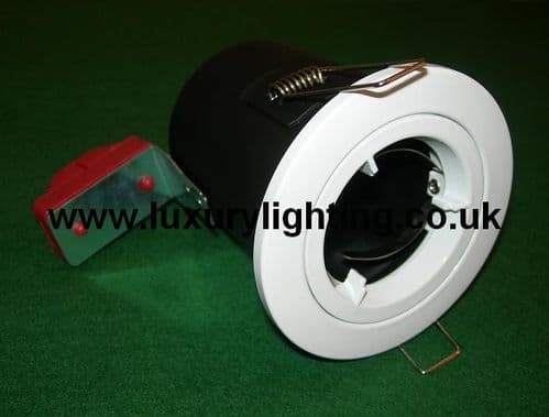 GU10 Mains Voltage Fire Rated Downlight Fixed White