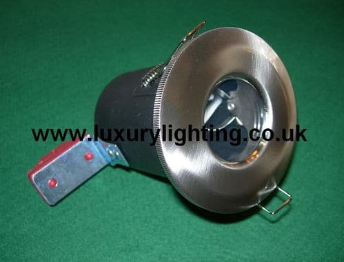 GU10 Mains Voltage IP65 Shower Fire Rated Downlight Brushed Chrome