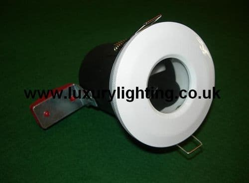 GU10 Mains Voltage IP65 Shower Fire Rated Downlight White
