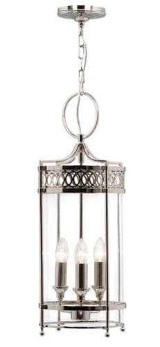 Guildhall Nickel Interior Lantern - Elstead Lighting