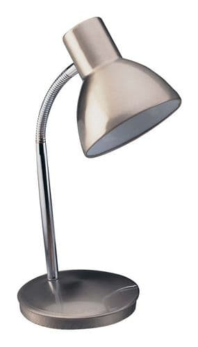 Harvard Brushed Steel Desk Lamp - Firstlight Lighting