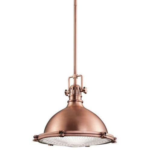 Hatteras Bay Copper Medium Ceiling Light Pendant - Kichler Lighting