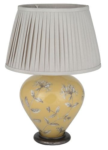 Honeysuckle on Print Room Yellow Ginger Jar Table Lamp with Shade - Jenny Worrall