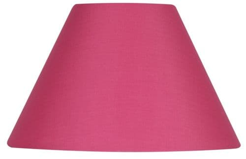 "Hot Pink 20"" Cotton Coolie Lamp Shade - Oaks Lighting"