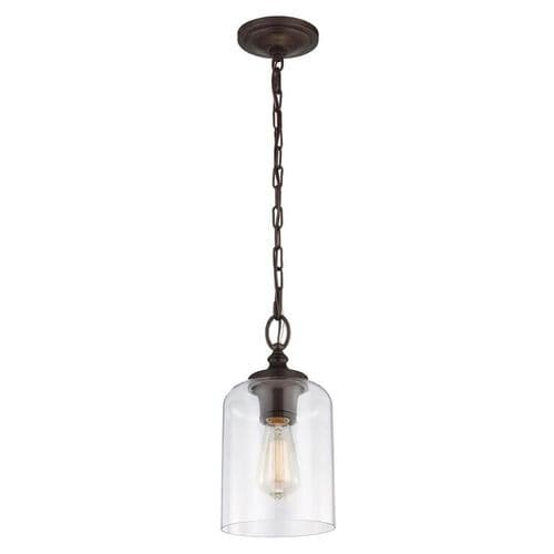 Hounslow Oil Rubbed Bronze Single Light Pendant - Feiss Lighting