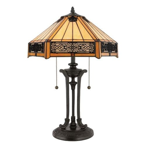 Indus Tiffany Table Lamp - Quoizel Lighting