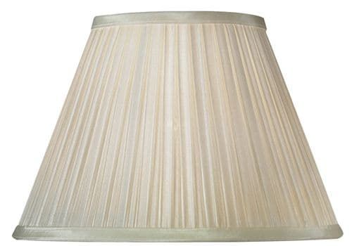 "Ivory 14"" Box Pleat Faux Silk Lamp Shade - Oaks Lighting"