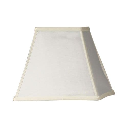 "Ivory 14"" Square Lamp Shade - Oaks Lighting"