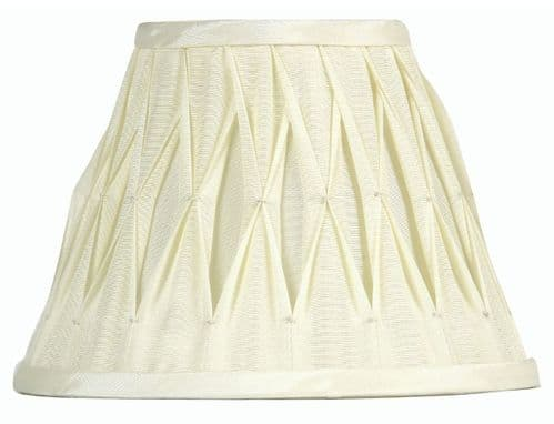 "Ivory 16"" Pinched Pleat Sutlej Silk Lamp Shade - Oaks Lighting"