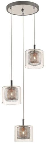 Jayne 3 Light Cluster Ceiling Light Pendant - Luxury Lighting