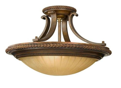 Kelham Hall Semi-Flush Ceiling Light - Feiss Lighting